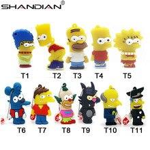 SHANDIAN Bart Simpson souris loup 4GB 8GB 32GB 64GB clé de mémoire U disque clé USB clé USB