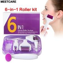 Derma rouleau Micro aiguille rouleau Kit 6in 1 Hydra Microneedling rouleau pour yeux visage corps peau beauté Dermaroller rajeunissement nouveau