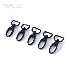 5pcs Classic Custom Keychain Swivel Lobster Clasp Clips Hook Key Chain Handbag Strap Split Key Ring For Bag Belt Black Keychains