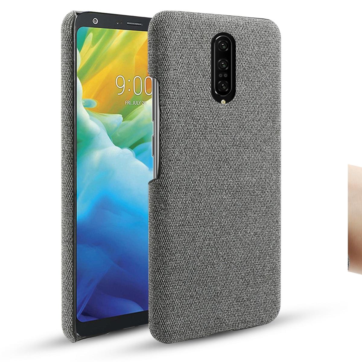 Pour LG Stylo 5 LG G8 G8X ThinQ G7 K40 étui mince rétro tissu tissu dur housse pour LG V40 W10 W30 Q60 coque antichoc