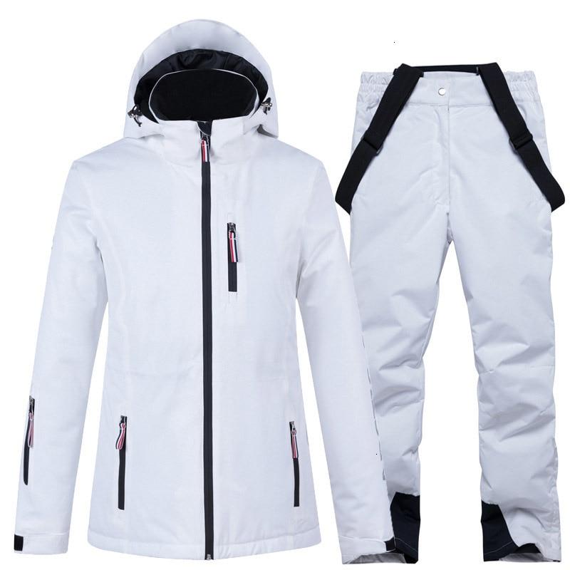 2019 New Womens Ski Suits Men Windproof Waterproof Breathable Warm Snowboard Jackets Pants High Quality Winter Jacket Women