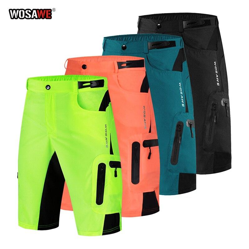 WOSAWE Motocross pantalones reflectantes MTB BMX bicicleta de montaña carreras Downhill motocicleta pantalones cortos verano al aire libre pantalones de chándal