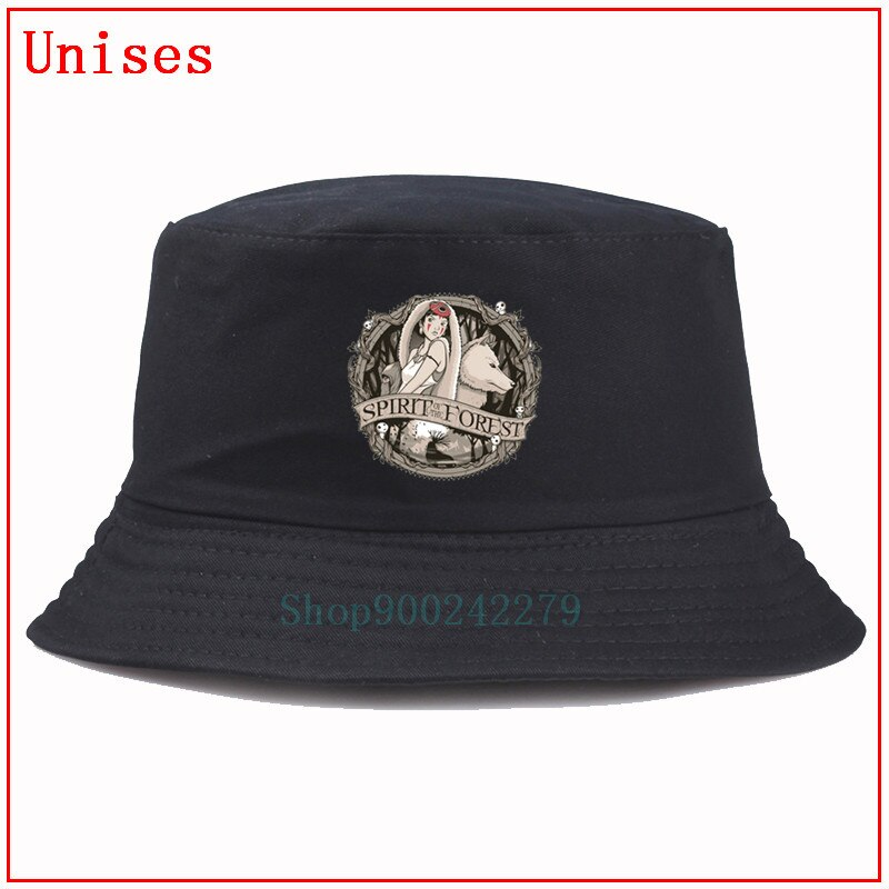 Mononoke princesa mononoke hime lobo natureza espírito da floresta kodama pescador chapéu hip hop panamá boné backet hat mulher
