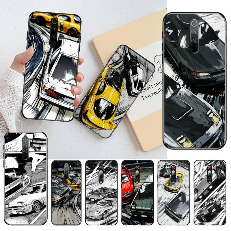 HPCHCJHM, carcasa de Teléfono de lujo DIY con dibujo inicial d JDM Drift para Redmi Note 9 8 8A 8T 7 6 6A 5 5A 4 4X 4A Go Pro