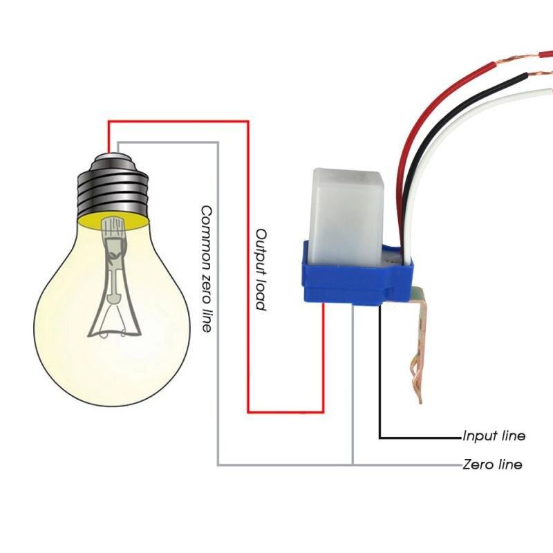 Interruptor automático do sensor de luz, ac 220v desliga automaticamente, interruptor de luz de rua fotocelular, interruptor de luz 10a, sensor de controle nova varal