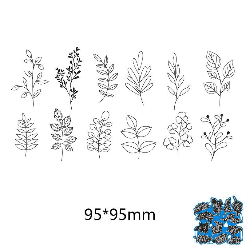 Natural plant tree leaves  new metal cutting dies Scrapbooking Stencil Craft die cut paper card Embossing photo ablum