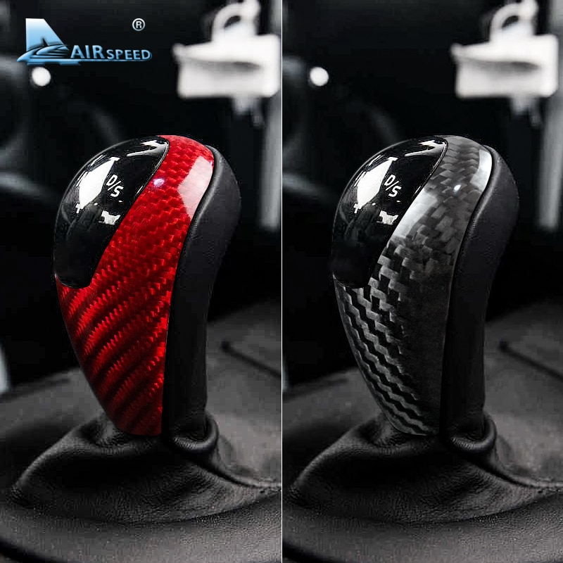 AIRSPEED for BMW M3 M5 M6 Carbon Fiber for BMW M3 M5 M6 Stickers Car Gear Shift Knob Cover Sticker Interior Trim Accessories