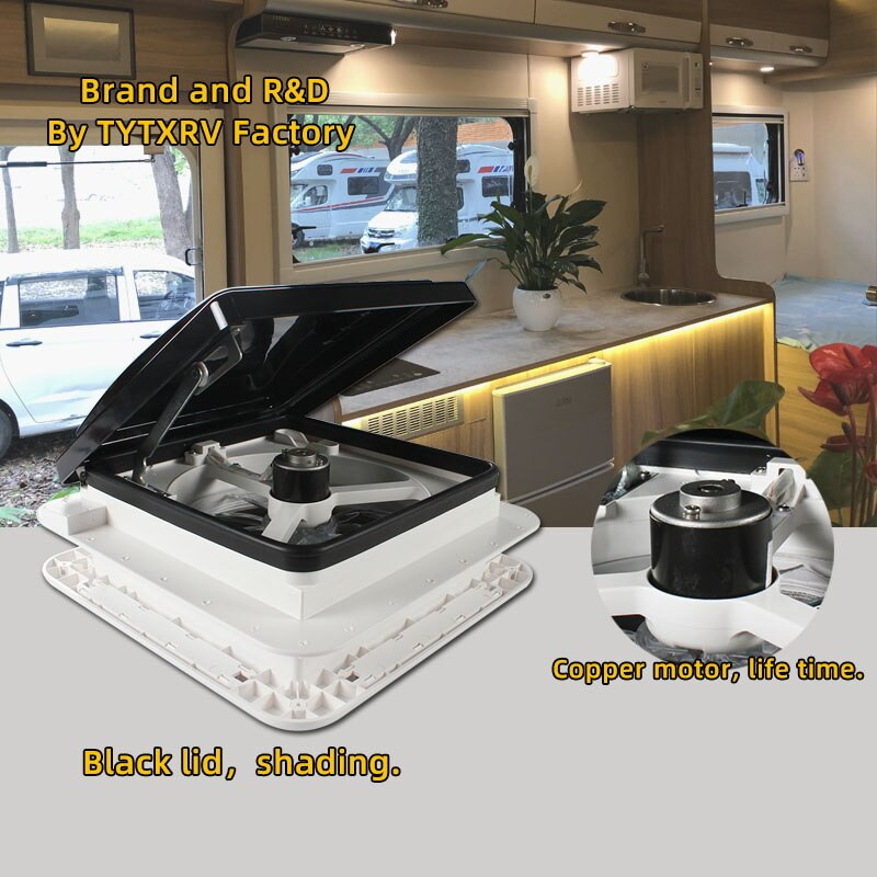 11'' CE Manual control Caravan accessories roof Motorhomes  vents 12V fan without LED camper window Recreational Vehicle enlarge