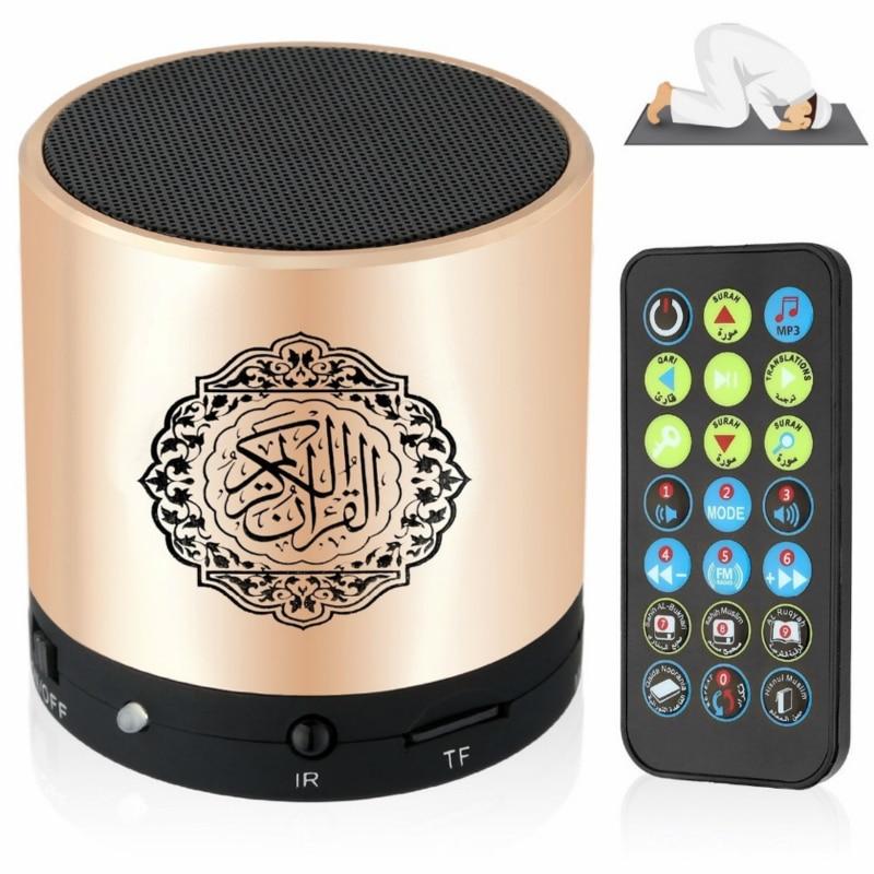 سمّاعات بلوتوث قارئ قرآن قرآن مسلّم يدعم 8GB FM MP3 TF بطاقة راديو تحكم عن بعد 15 لغة ترجمة