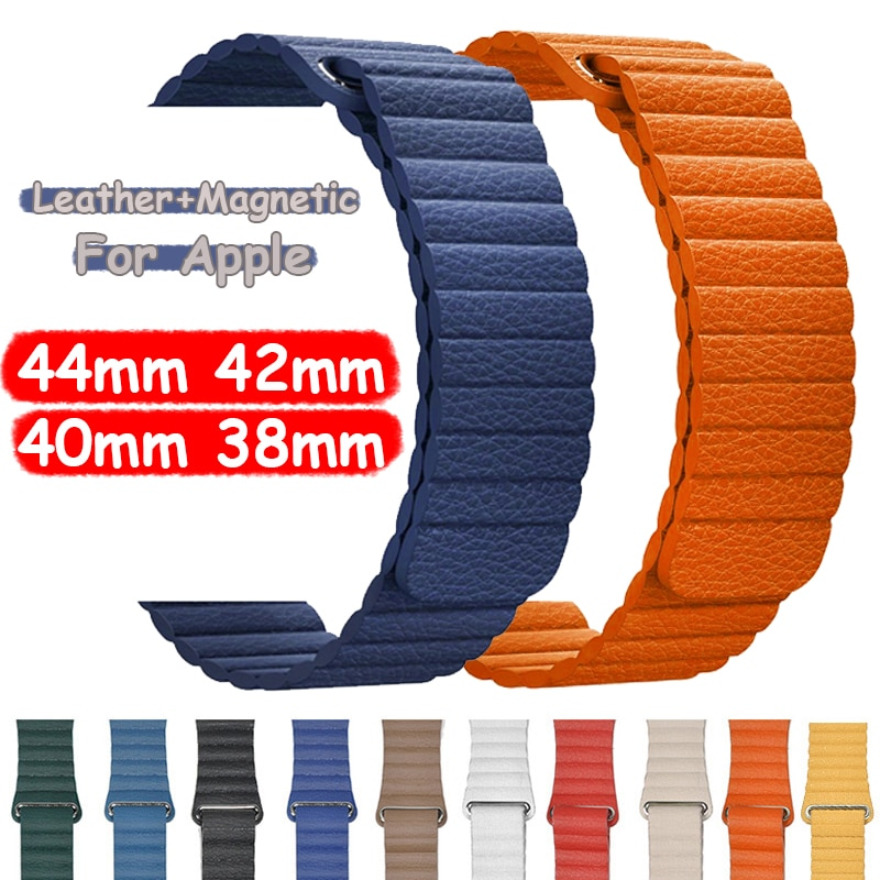 soft silicone loop strap for apple watch band 5 4 44mm 40mm bracelet wristband for iwatch series 5 4 3 2 1 42mm 38mm accessories Leather Loop Watch Strap for Apple Watch 44mm 6 5 4 SE 42MM 38MM 40MM Magnetic Band Bracelet for IWatch Series 6 5 4 3 Wristband
