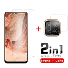 2 In1 Tempered glass For oppo F17 f17 f 17 Camera Lens Film And Screen Protectors glass on  F17 glas