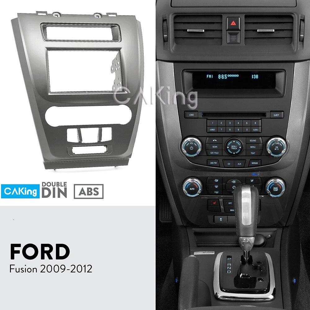 Автомобильная фасция Радио панель для FORD Fusion 2009 2012 (черный) рамка приборной