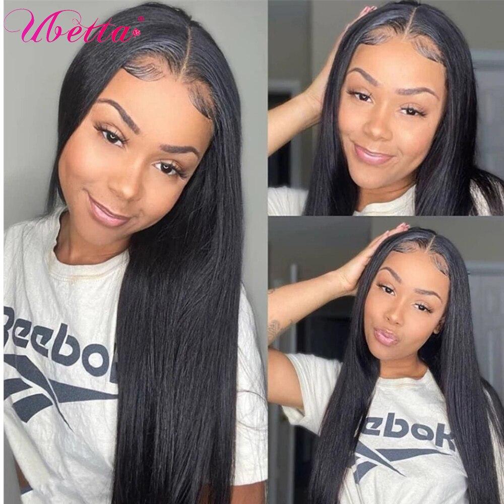 UBETTA Wigs Human Hair Straight U Part Human Hair Wigs For Black Women 150% Long Human Hair Wigs 2x4 Open U Shape Glueless Wigs