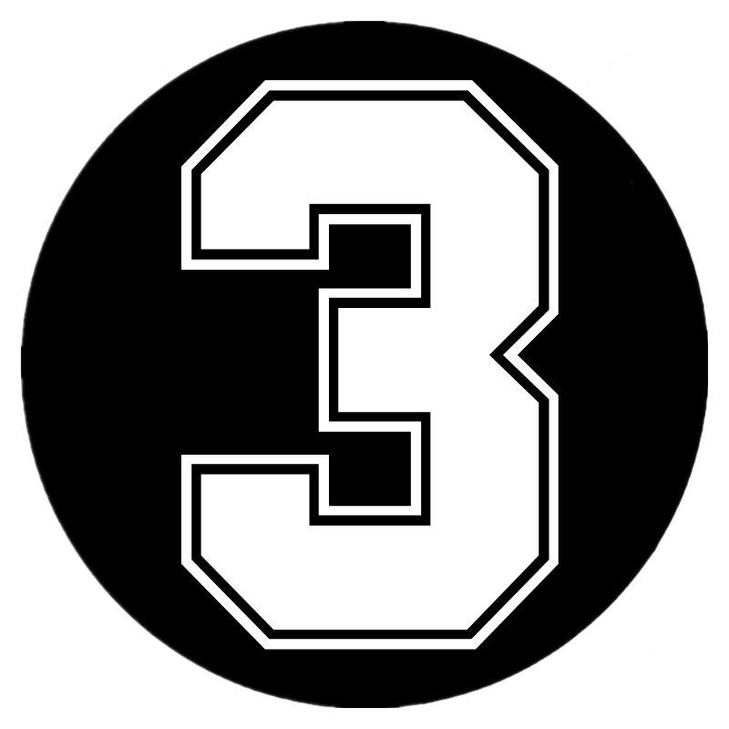 SF20166 # забавная Виниловая Наклейка номер 3, автомобильная наклейка, водонепроницаемые Автомобильные украшения на бампер грузовика, заднее о...