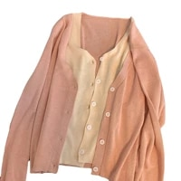 knitted cardigan sweater women 2021 spring and autumn new v neck thin soft long sleeve gentle solid color jacket t165