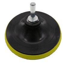 Disque de ponçage M14 de secours rotatif de 5 pouces, filetage M14 livré avec adaptateur de perceuse pour le meulage et le polissage