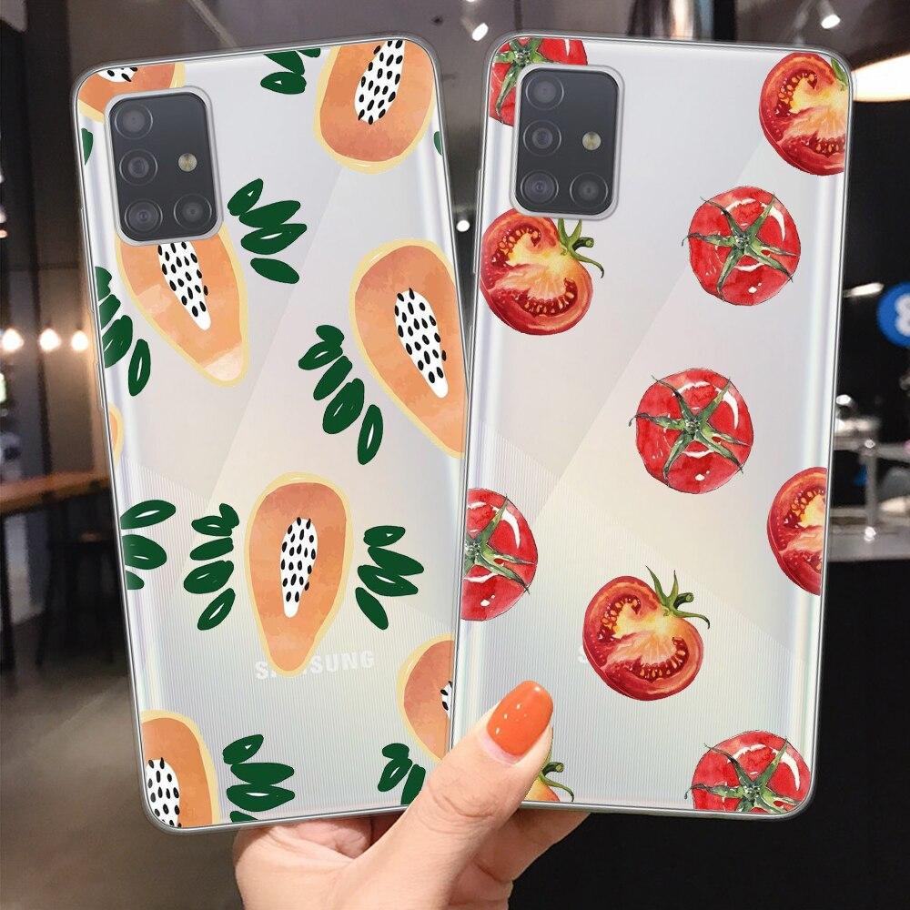 Frutas Tropicales teléfono caso Coque Samsung A10 A20 A30 A40 A50 A70 A51 A71 A6 A8 más A7 A9 2018 S10 S20 Plus Ultra de la cubierta del TPU del