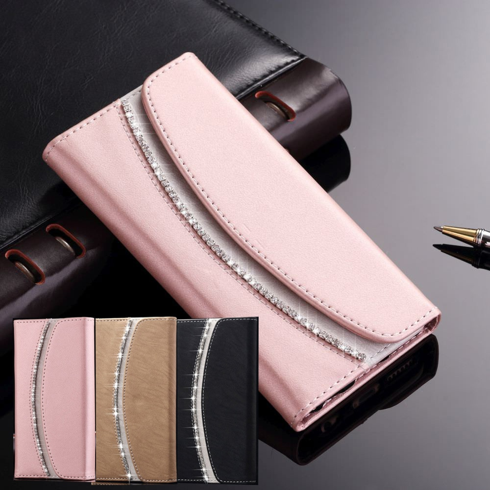 Girls Luxury Flip Wallet Case For iPhone X Xr Xs 11 Pro Max Women Phone Soft Leather Cover For 7 8 6S 6 Plus 5S SE 2020 12 Mini