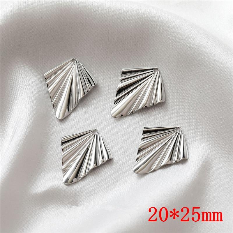 New style 30pcs/lot geometry folds effect Rhombus shape copper floating locket charms diy jewelry earring/garment accessory