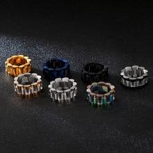 Europa En De Verenigde Staten Nieuwe Ring Rvs Heren Eenvoudige Wind Ring Horloge Ketting Ontwerp Hip Hop Sieraden