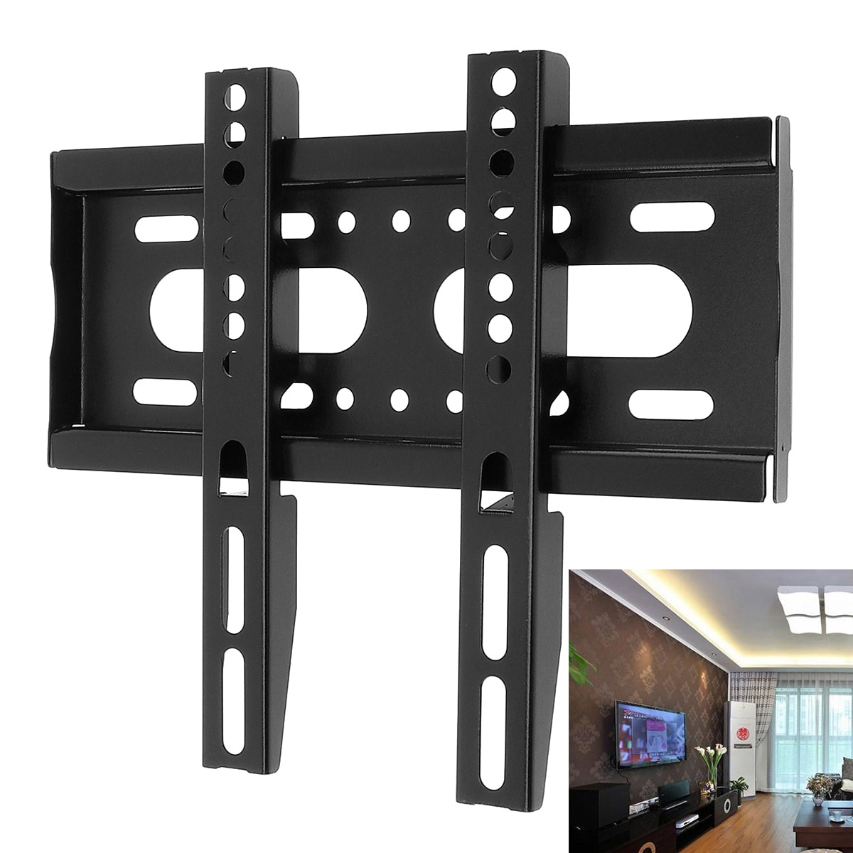 1 Pc Universal 25KG de TV soporte de montaje en pared fija TV de Panel plano de tipo fijo de 14 - 42 pulgadas LCD Monitor LED de Panel plano