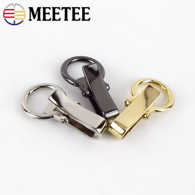 Meetee 4/10pcs Bag Hook Metal Key Lobster Buckle Dog Buckles DIY Bag Luggage Decoration Hardware Carft Part Accessories BD522
