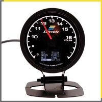 Racing Gauge GReddi Multi D/A LCD Digital Display Voltage Gauge Car Gauge 2.5 Inch 62mm Voltmeter 7 Color in 1