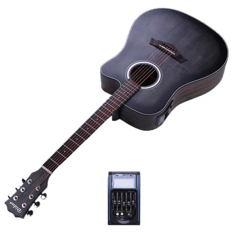 free shipping 38 inch parlor guitar solid wood acoustic guitar flame maple parlor body guitar aaa quality acoustic guitar 41 Inch Guitar Folk Guitar Solid Picea Asperata Electric Guitar 6 String Acoustic Guitar Concert Musical instrument AGT201