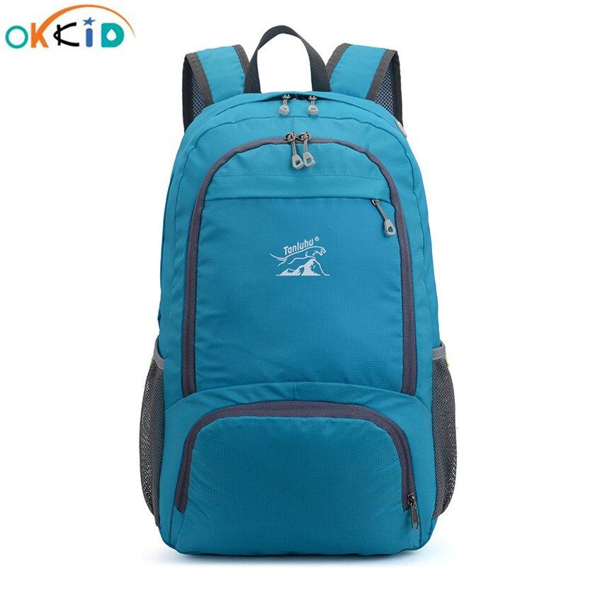 OKKID женские светильник складной рюкзак водонепроницаемый спортивный рюкзак большой открытый рюкзак сумка для мужчин рюкзак для путешестви...