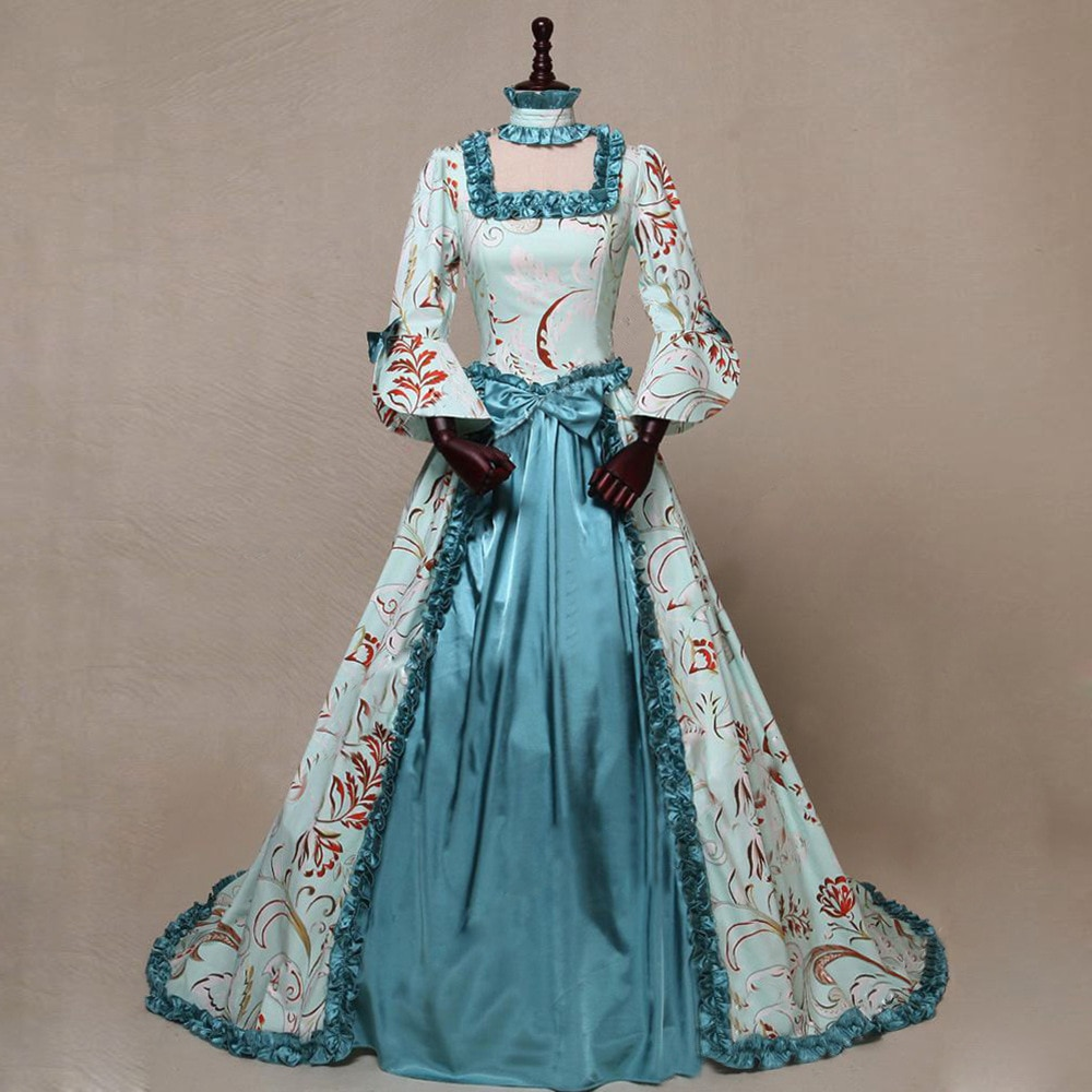 Novo medieval renascentista vestido longo rainha festa cosplay traje gola quadrada maxi vestidos com petticoat S-XXXXXL