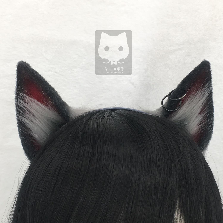MMGG جديد أرنايتس تكساس الثاني تأثيري حلي اكسسوارات الكلب الذئب آذان أغطية الرأس طوق الشعر لفتاة النساء