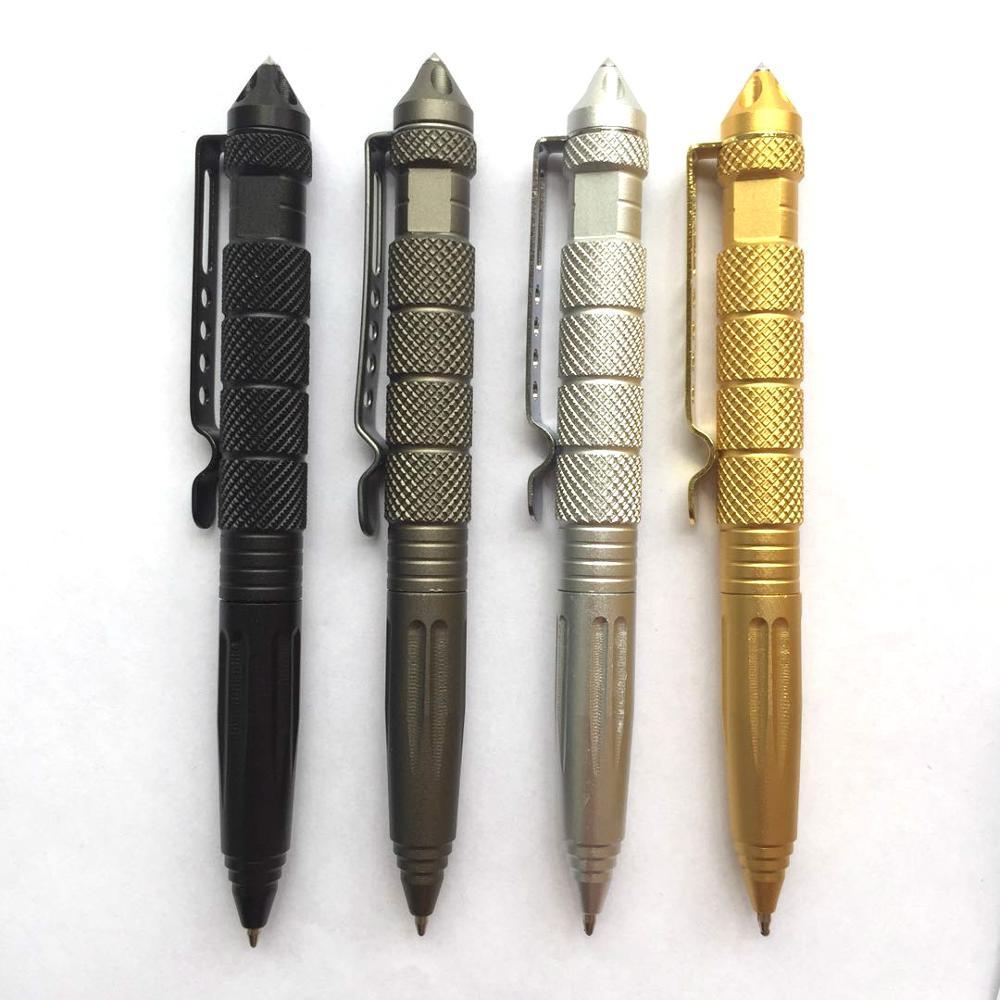 قلم تخطيطي متعدد الأغراض أداة الدفاع عن النفس القلم كسّارة زجاج سبائك الألومنيوم EDC أدوات إنقاذ في الهواء الطلق الكتابة قلم حبر جاف
