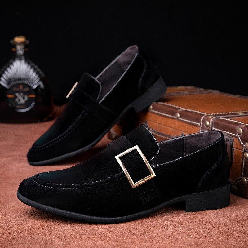 رخيصة 2020 موضة الرجال أحذية خفيفة بدون كعب الانزلاق على جلد الرجال أحذية رياضية شرابة الجلد المدبوغ أحذية من الجلد الرجال الشقق zapatos دي hombre