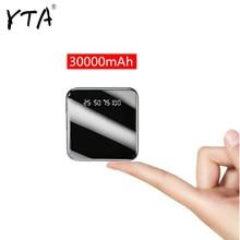 Higt 30000Mah Mini Power Bank Waterdicht Charger Dual Usb Externe Lader Powerbank Voor Xiaomi Mi Iphone 8 X Samsung