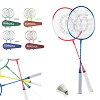School Nylon Racket Sports Racket Ferroalloy Lightweight Badminton Court Badminton Racket Professional Game Sporting Goods