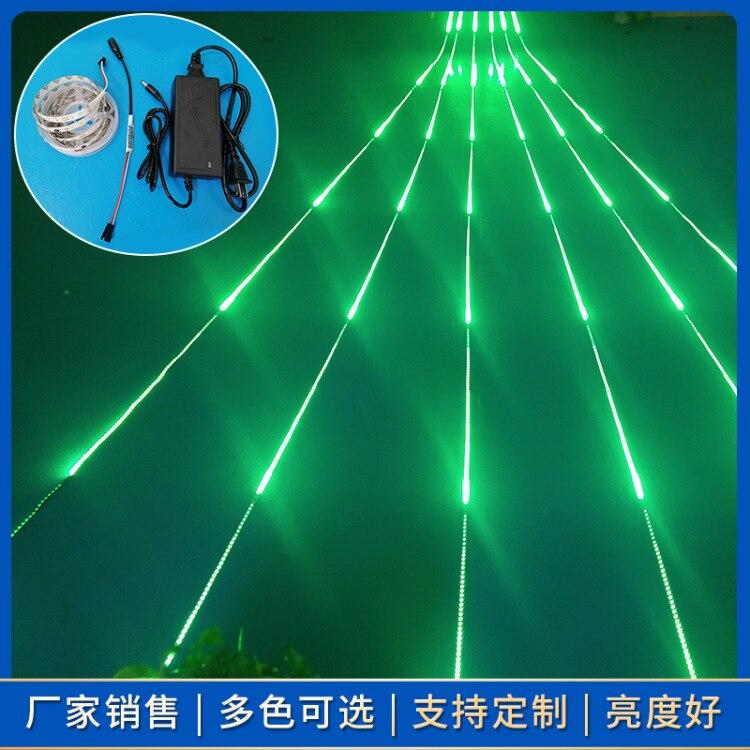 2021 Red New Style Running Water Chasing Light Full Bright Light Bar LED Strip Flash Color Light 12V Meteor Shower Horse Running enlarge