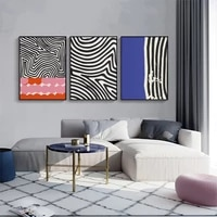 blue white black abstract geometric line canvas painting wall art nordic posters and prints wall pictures for living room decor
