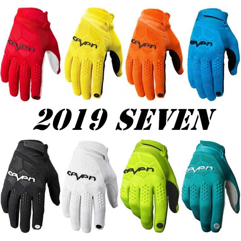 Seven Motorcycle Cross Country All Fingers Gloves Breathable Slip and Fall Resistant Knight Gloves C