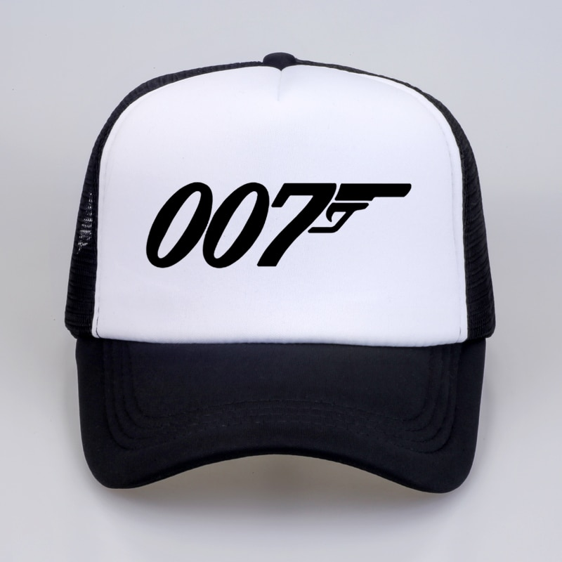 Movie Film James Bond 007 Summer cool Mesh trucker cap Fashion Cotton Men women Dad hat Leisure outdoor adjustable Baseball cap