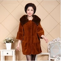 top brand thick women fashion faux mink coat n7 high quality