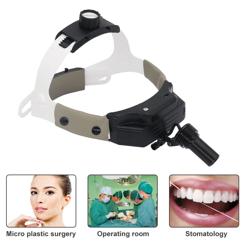 LED Surgical Headlight Dental Headband Headlamp for Dentist Oral Surgery Medical Operation Loupe Rechargeable Lithium Battery enlarge