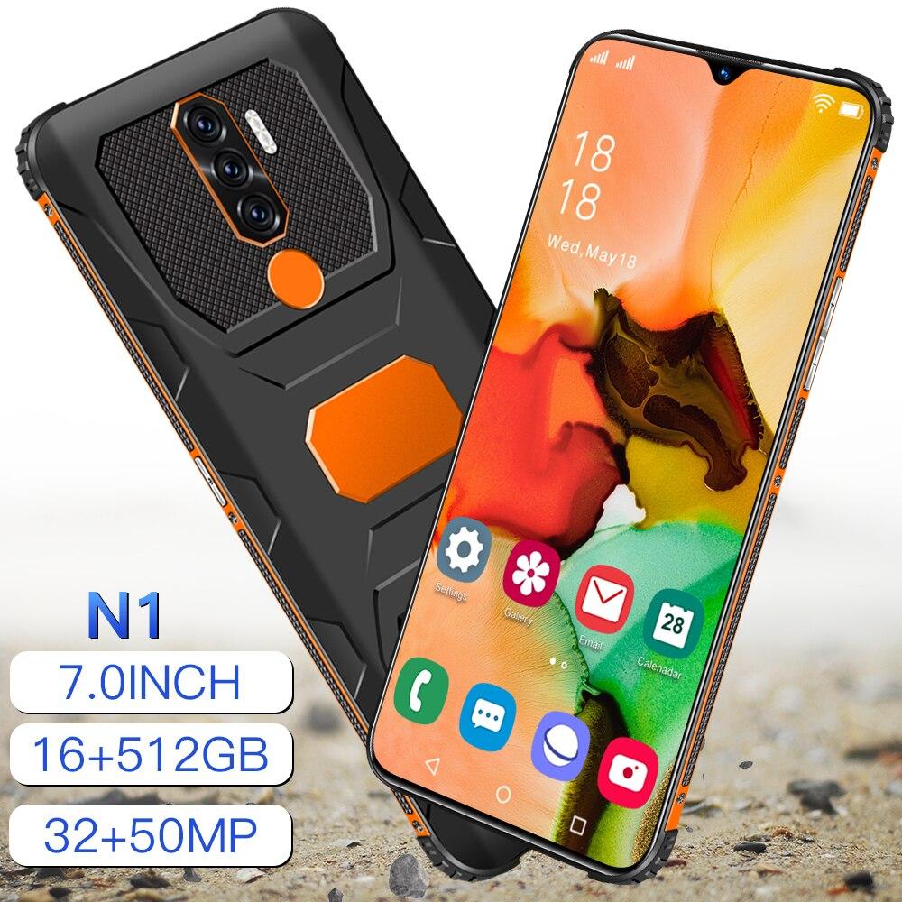 Телефон N1 на Android 512, 12 + 11,0 ГБ, 7,1 дюйма, 10 ядер, 6800 мАч, 32 + 50 Мп