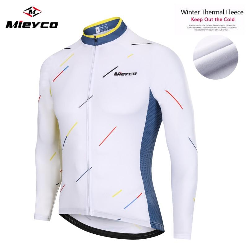 Mieyco Invierno Ciclismo Jersey de lana térmica Ciclismo ropa de manga larga...