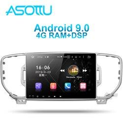 Asottu KI605 IPS android 9,0 PX6 автомобильный dvd для KIA sportage 4 QL 2016 2017 2018 gps навигация 1 din автомобильный стерео головное устройство