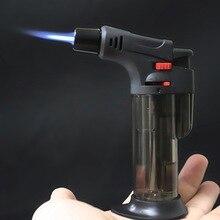 Briquet Jet pistolet torche BBQ   Pistolet de pulvérisation, Turbo Butane éclairages à gaz de cuisson, tuyau de cigare à feu fixe, briquet de cuisine, coupe-vent dextérieur
