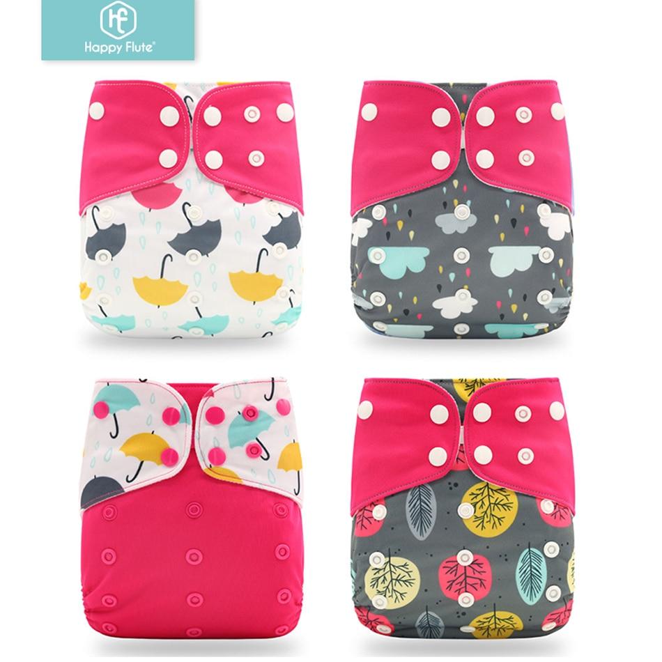 aliexpress.com - Happyflute 2021 4pcs/set Washable Eco-friendly Cloth Diaper Ecological Adjustable Nappy Reusable Diaper Fit 0-2year 3-15kg baby