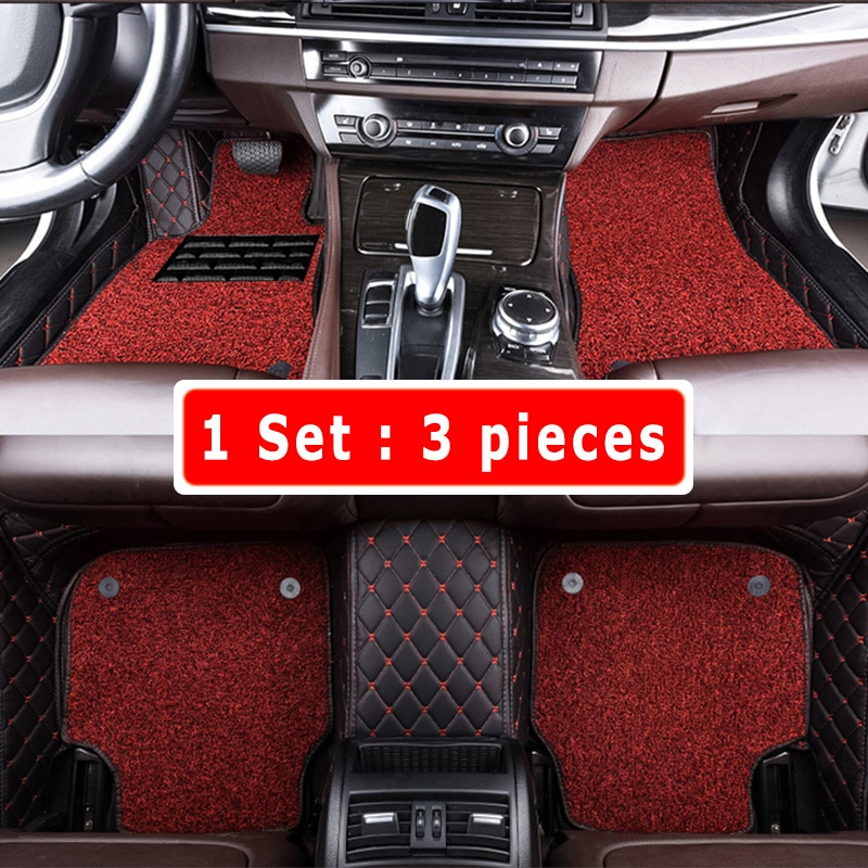 Luxury Double Layer Wire Loop Car Floor Mats For Ford Kuga Escape Facelift 2018 2017 2016 2015 2014 2013 Interior Leather Rugs enlarge