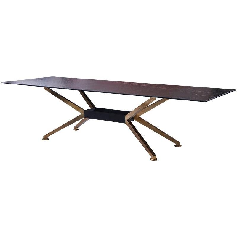Mesa de jantar longa alta de 76cm/200x100 sinterizado pedra superior/8x cadeiras e aparador incluído