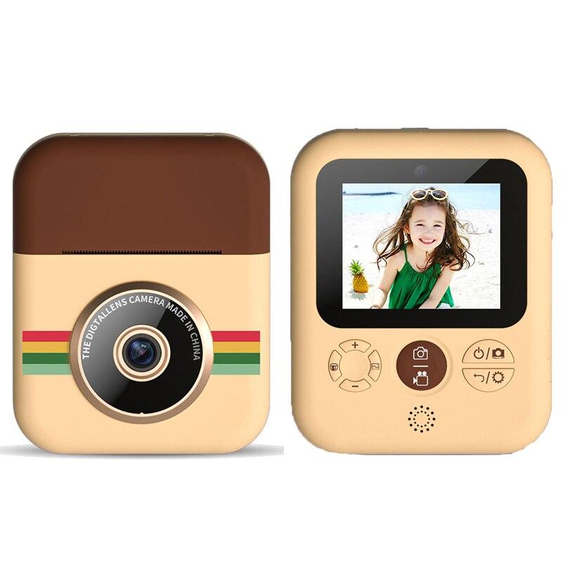 Câmera de Impressão Instantânea para Crianças Digital com 3 Crianças Vídeo Foto Câmera Rolos Térmica Papel Criança 1080p hd