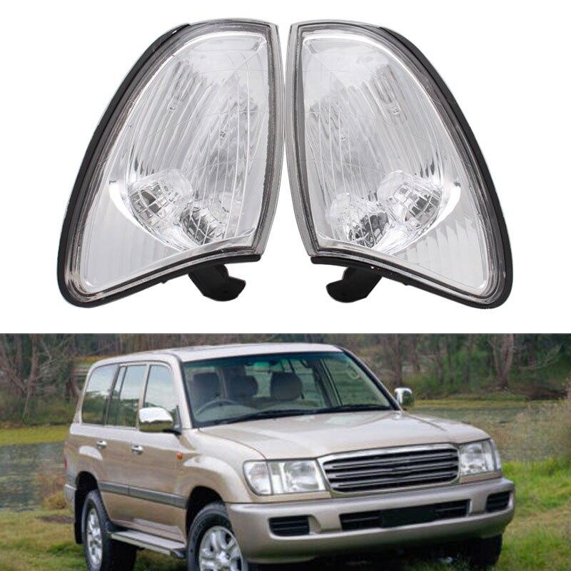 Carro lrft/direito canto lâmpada frente turn signal luz oem 81521-60360 81511-60490 para land cruiser 100 1998 1999 2000 2002 lc100